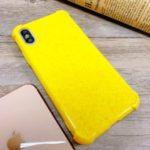 TPU Wheat Straw Anti-drop Phone Shell for iPhone XS Max 6.5 inch – Yellow
