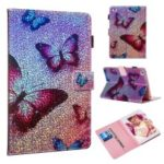 Reflective Wallet Stand Leather Case for  iPad mini 4 3 2 1 / mini (2019) 7.9 inch – Butterfly