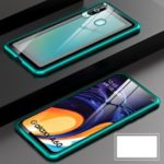 Metal Frame + Tempered Glass Back Detachable Magnetic Hybrid Case for Samsung Galaxy A60 – Green