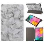 Marble Texture Tri-fold PU Leather Stand Tablet Cover for Galaxy Tab A 10.1 (2019) SM-T515 / SM-T510 – Grey