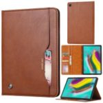 Auto-absorbed Wallet Stand Flip Leather Tablet Case for Samsung Galaxy Tab A 8 (2019) SM-P200 (Wi-Fi) / SM-P205 (LTE) – Brown