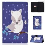 Patterned PU Leather Card Holder Stand Flip Case for Samsung Galaxy Tab A 8 (2019) – Fox