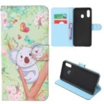 Pattern Printing Leather Wallet Stand Case for Samsung Galaxy A20/A30 – Koala