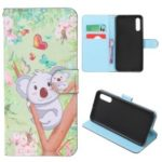 Pattern Printing Leather Wallet Case for Samsung Galaxy A50 – Koala