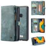 CASEME for Samsung Galaxy A40 2-in-1 Multi-slot Wallet Vintage Split Leather Phone Cover – Blue