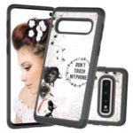 2 in 1 Pattern Printing PU Leather Coated TPU Phone Case for Samsung Galaxy S10 – Black / Many Cats