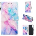 Pattern Printing Leather Wallet Stand Phone Shell Case for Samsung Galaxy A50 – Multiple Colors
