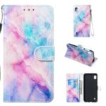 Pattern Printing Leather Wallet Stand Phone Casing for Samsung Galaxy A10 – Multiple Colors