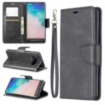 PU Leather Wallet Stand Phone Cover Case for Samsung Galaxy S10 Plus – Dark Grey