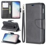 PU Leather Wallet Stand Phone Case for Samsung Galaxy S10e – Dark Grey
