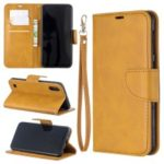 PU Leather Wallet Stand Phone Cover for Samsung Galaxy A10 / M10 – Light Brown