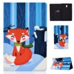 Shock-proof Pattern Printing Card Slot Stand PU Leather Tablet Shell for Samsung Galaxy Tab A 10.5 (2018) T590 T595 – Fox