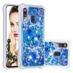Pattern Printing Glitter Powder Quicksand TPU Shell for Samsung Galaxy A40 – Butterfly