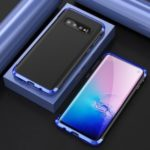 Guard Series Metal Frame + Hard PC Phone Case for Samsung Galaxy S10 – Blue