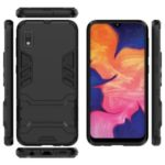 Cool Guard Hybrid Cell Phone Case with Kickstand for Samsung Galaxy A20e / A10e – Black