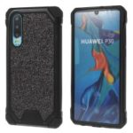Glitter Powder Anti-drop PC + TPU Hybrid Cellphone Cover for Huawei P30 – Black