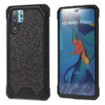 Glitter Powder Anti-drop PC + TPU Hybrid Phone Cover for Huawei P30 Pro – Black