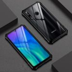 Metal Frame + Glass Back Phone Casing for Huawei Honor 20 Pro/Honor 20/Honor 20i/Honor 20 Lite – Black