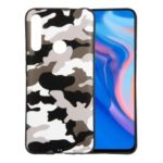 Camouflage Pattern TPU Protective Phone Shell for Huawei Y9 Prime 2019 / P Smart Z – White