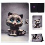 Shock-proof Pattern Printing Card Slot PU Leather Tablet Casing for Huawei MediaPad T5 10 – Cat with Blue Eyes