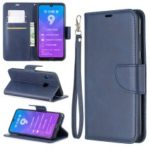 PU Leather Wallet Stand Phone Cover for Huawei Y7 (2019) / Y7 Prime (2019) – Blue