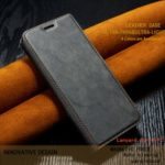 Ultra-thin Simple Style Leather Flip Phone Case with Card Slots for Huawei P Smart (2019)/Nova Lite 3/Honor 10 Lite – Black