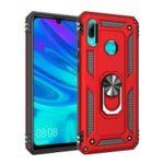 2 in 1 360 Degree TPU+PC+Metal Phone Cover with Kickstand for Huawei P Smart (2019) / Honor 10 Lite / Nova Lite 3 (Japan) – Red