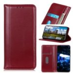 Auto-absorbed Split Leather Wallet Stand Case for Huawei P20 lite (2019) – Red