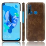 Litchi Texture PU Leather Coated PC Case for Huawei P20 lite (2019)/nova 5i – Brown