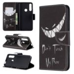 Pattern Printing PU Leather Flip Stand Cell Phone Shell for Huawei P Smart Z – Do not Touch My Phone