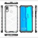 Honeycomb Shock Absorber TPU + PC + Silicone Phone Cover for Huawei Y9 (2019) – White