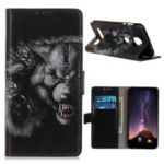 Pattern Printing Flip Leather Wallet Stand Phone Case for Motorola Moto Z4 – Cruel Wolf