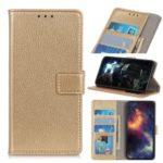 Litchi Skin Wallet Leather Stand Case for Xiaomi Redmi K20 Pro / Mi 9T Pro / Redmi K20 / Mi 9T – Gold