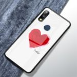 Pattern Printing Tempered Glass + TPU Hybrid Case for Asus Zenfone Max Pro (M2) ZB631KL – Lovely Letter and Heart