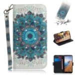 Pattern Printing Light Spot Decor Leather Wallet Case for Xiaomi Redmi 7A – Blue Flower
