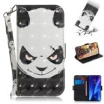 3D Light Spot Decor Pattern Printing Leather Wallet Stand Case with Strap for Xiaomi Redmi K20/K20 Pro – Panda Face