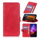 Litchi Texture Wallet Stand Leather Phone Shell for Xiaomi Redmi 7A – Red