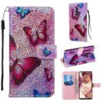 Glitter Sequins Pattern Printing Leather Phone Cover for Xiaomi Redmi K20 / K20 Pro / Mi 9T / Mi 9T Pro – Butterfly