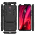 Plastic+TPU Hybrid Phone Shell with Kickstand for Xiaomi Redmi K20 / K20 Pro / Mi 9T / Mi 9T Pro – Black