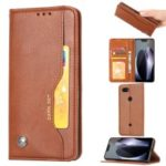 PU Leather Auto-absorbed Stand Wallet Phone Case for Google Pixel 3a – Brown