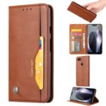 PU Leather Auto-absorbed Stand Wallet Phone Shell for Google Pixel 3a XL – Brown