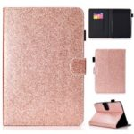 Glittery Powder Card Slots Stand Flip Leather Tablet Shell for Amazon All-New Kindle (2019) – Rose Gold