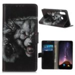 Pattern Printing Wallet Stand PU Leather Protective Casing for Wiko View 3 – Cruel Wolf
