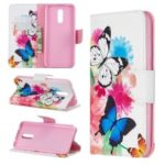 Pattern Printing Leather Wallet Phone Case for Nokia 3.2 – Vivid Butterflies
