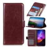 Crazy Horse Texture Leather Wallet Phone Case for Nokia 3.2 – Brown