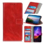 Crazy Horse Texture Vintage Leather Wallet Phone Case for NOKIA 2.2 – Red