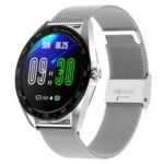 K7 1.3-inch Full Screen IP68 Waterproof Sport Bluetooth Smart Watch – Silver / Metal Band