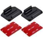 PULUZ 2PCS Curved Surface Mounts + 2PCS Adhesive Mount Stickers for GoPro Hero 6 / 5 / 5 Session / 4 Session