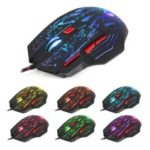 HXSJ H300 Stream Crack Seven Colors Lightning Professional Game Mouse