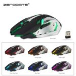 ZERODATE X70 2.4G Colorful Luminous Game Mouse Chargeable Wireless Mouse – Black